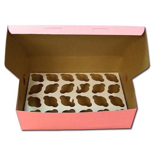 2 Dozen Mini Cupcake Box with Inserts