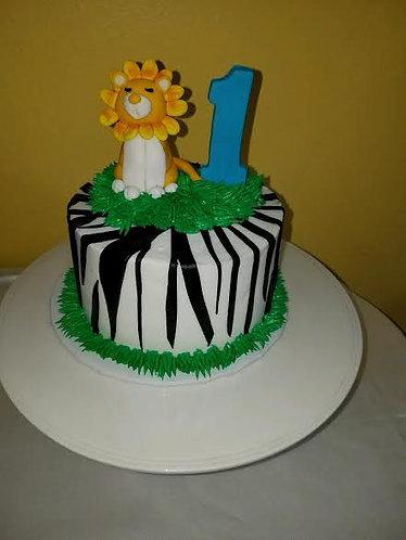 Lion & Tiger Cake