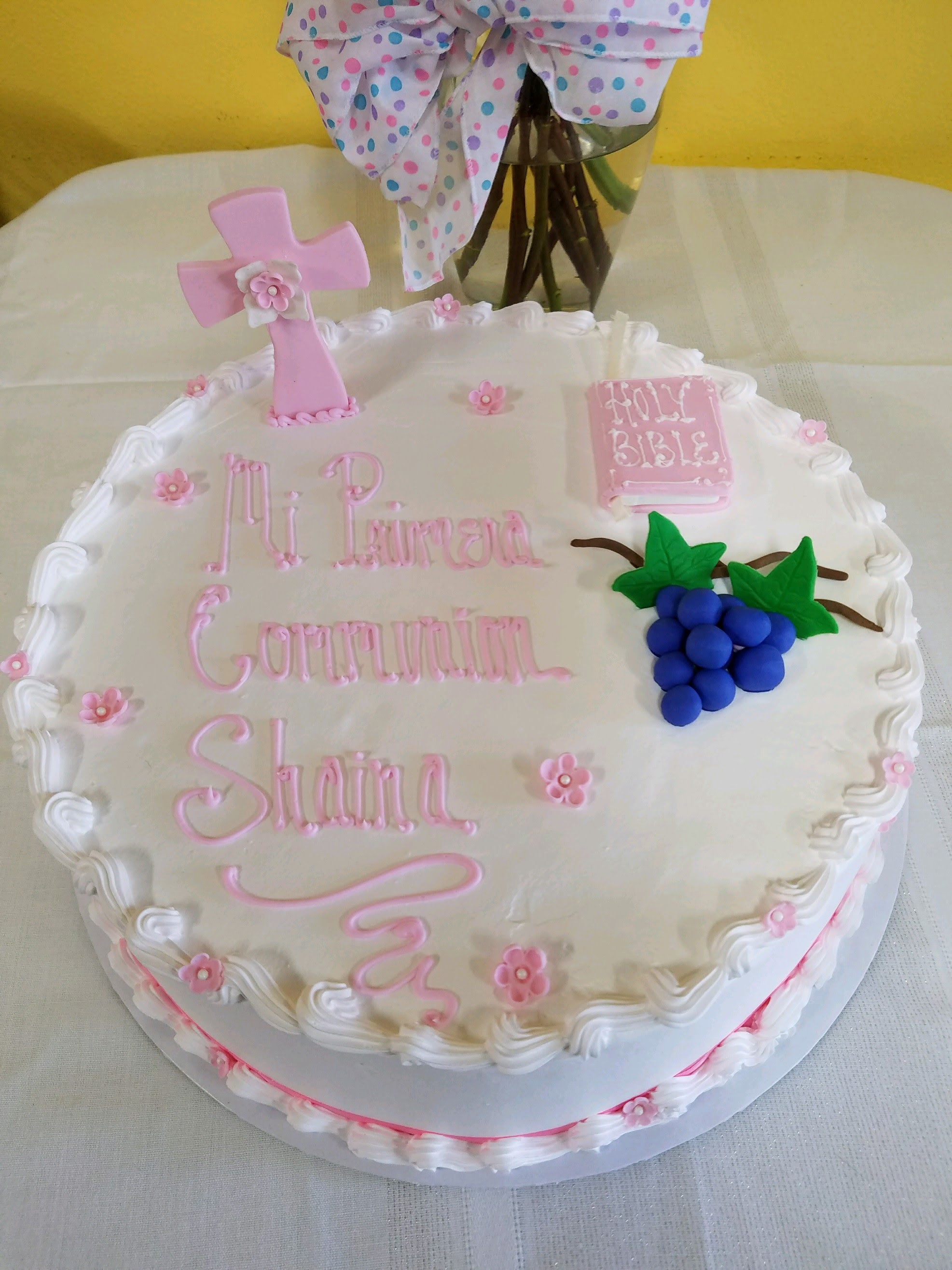 dulce 1 tier communion cake