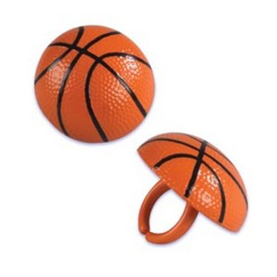 Basketball Cupcake Rings