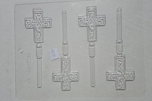 Cross Lollipop Mold