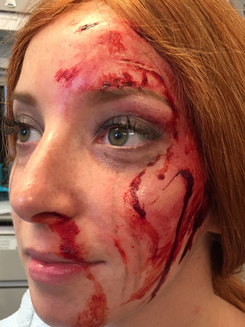 Electric Dreams Stunt bruise makeup