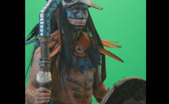 Face and body paint for History Channel Documentary