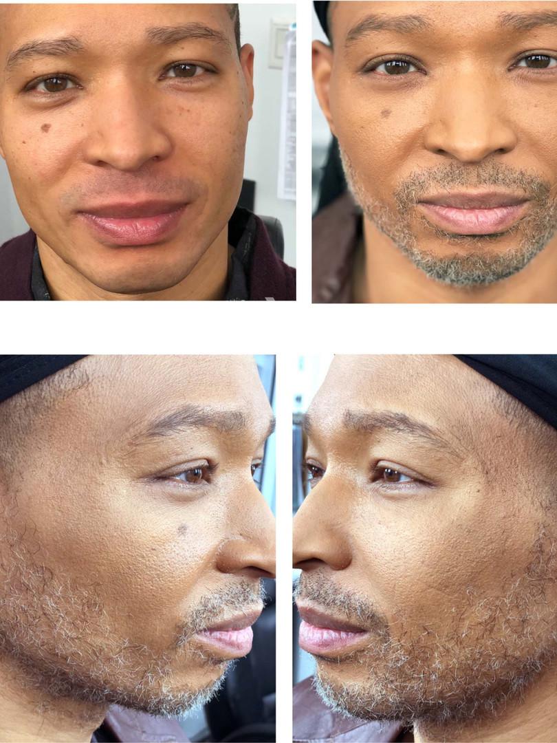 Fake facial hair for Empire