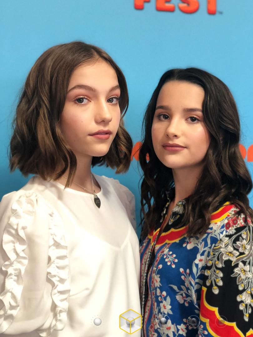 Jayden and Annie Grace Nickelodeon Slimefest