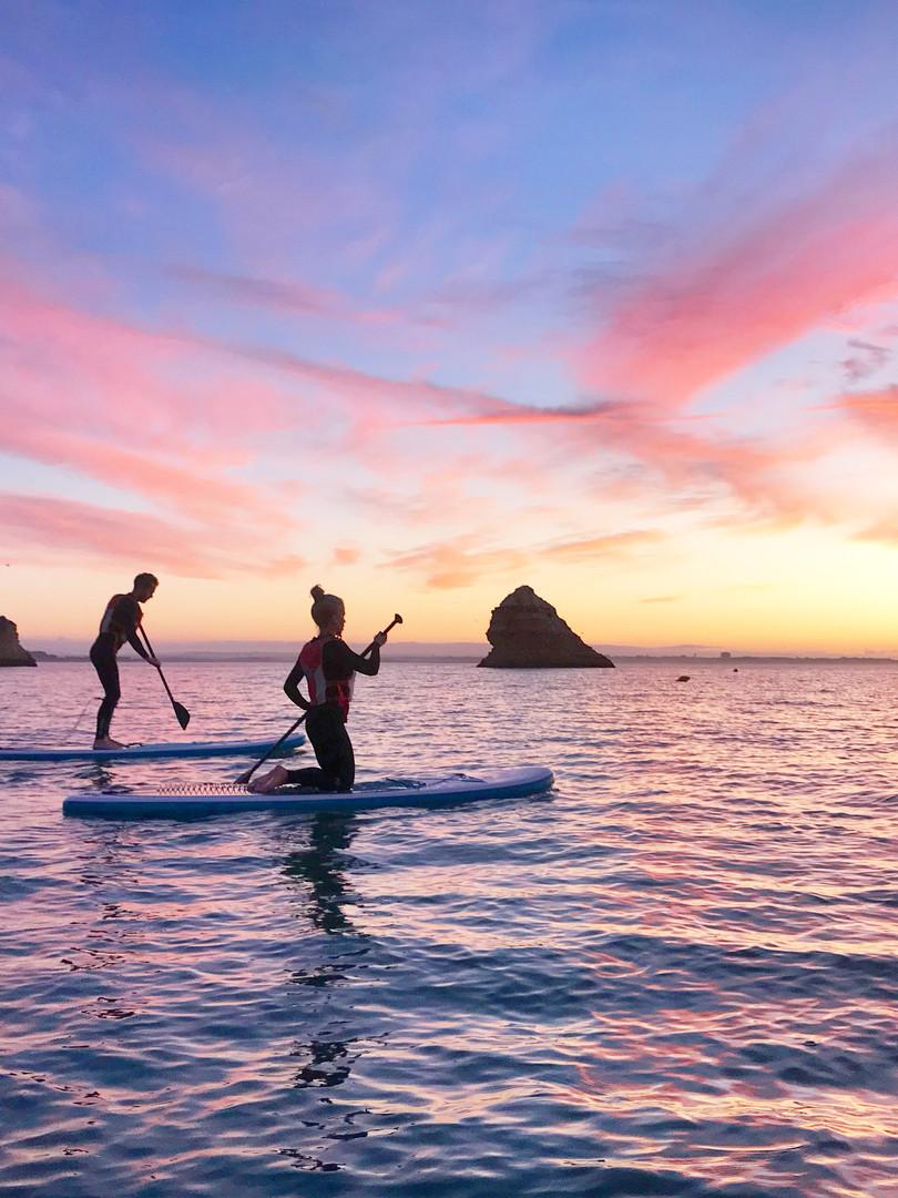 Sunrise Stand-Up Paddleboarding - Workout Away