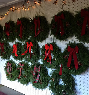 Wreaths in the Shop