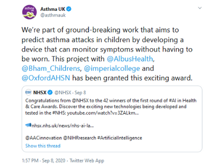 AI inHealth and Care Award