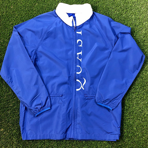 Quasi Script Zip Up Coach's Jacket