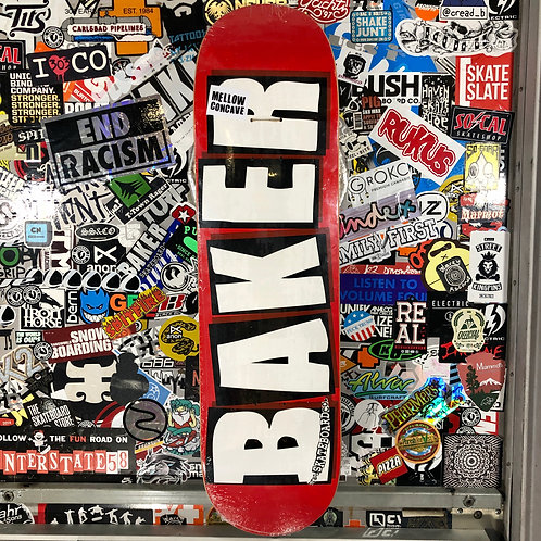 Baker - Logo Red - 8.0""