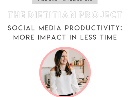 [The Dietitian Project Podcast] Ep 010: Social media productivity: more impact in less time