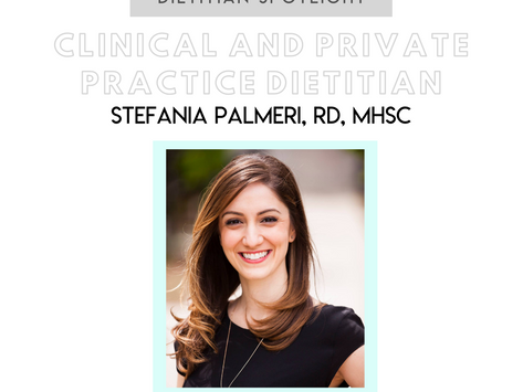 Dietitian Career Spotlight: Stefania Palmeri, RD, MHSc