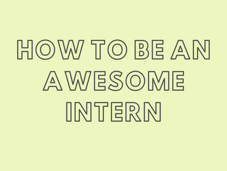How to be an Awesome Dietetic Intern