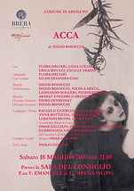 Locandina Acca - Arena Po - sala consigl