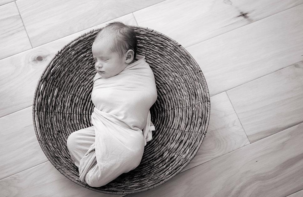 newborn black and white photography