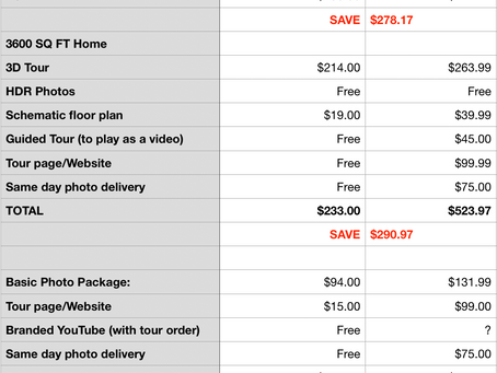 New Order Form and Upgraded Tours...oh, and a price comparison!