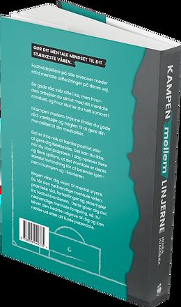 Bagsiden af bogen Kampen Mellem Linjerne af Henrik Hjarsbæk