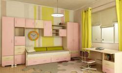 жёлто-розовая детская