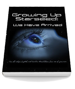 Commissioned book cover for Growing Up Starseed by an anonymous author (unpublished)
