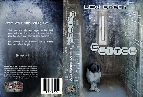 Commissioned book cover for Glitch by Lexi Brady