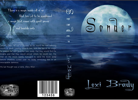 Commissioned book cover for Sonder by Lexi Brady