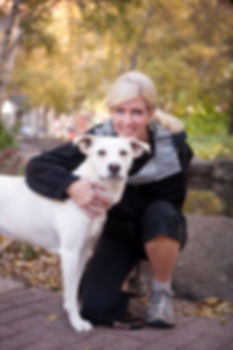 Christine and her dog Myah