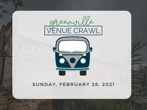 Virtual Greenville Venue Crawl experience to be hosted by Jamarcus Gaston and Myra Ruiz