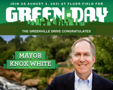 Drive announce Mayor Knox White as organization's 15th annual Green Day honoree