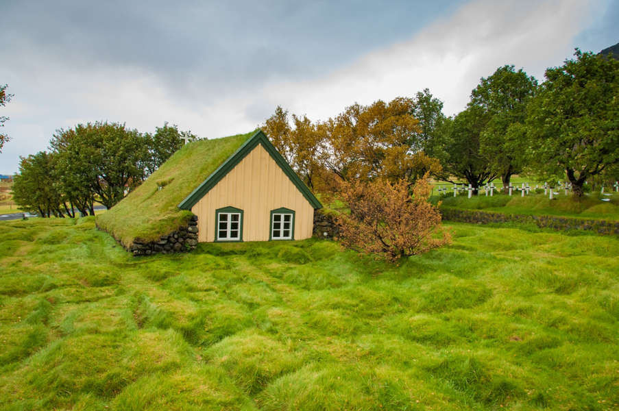 Icelandic traditional turf house