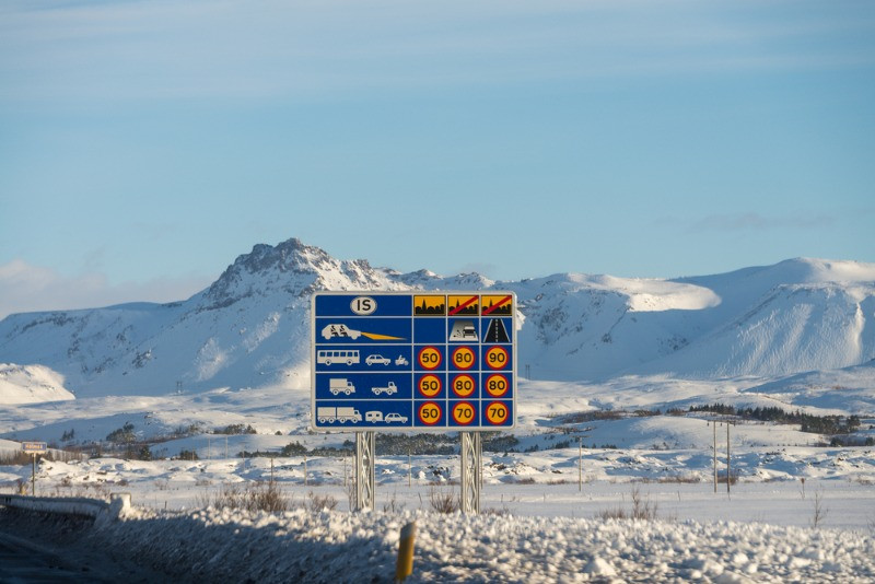You get speeding fines in Iceland when overpassing the speed limits shown in the image