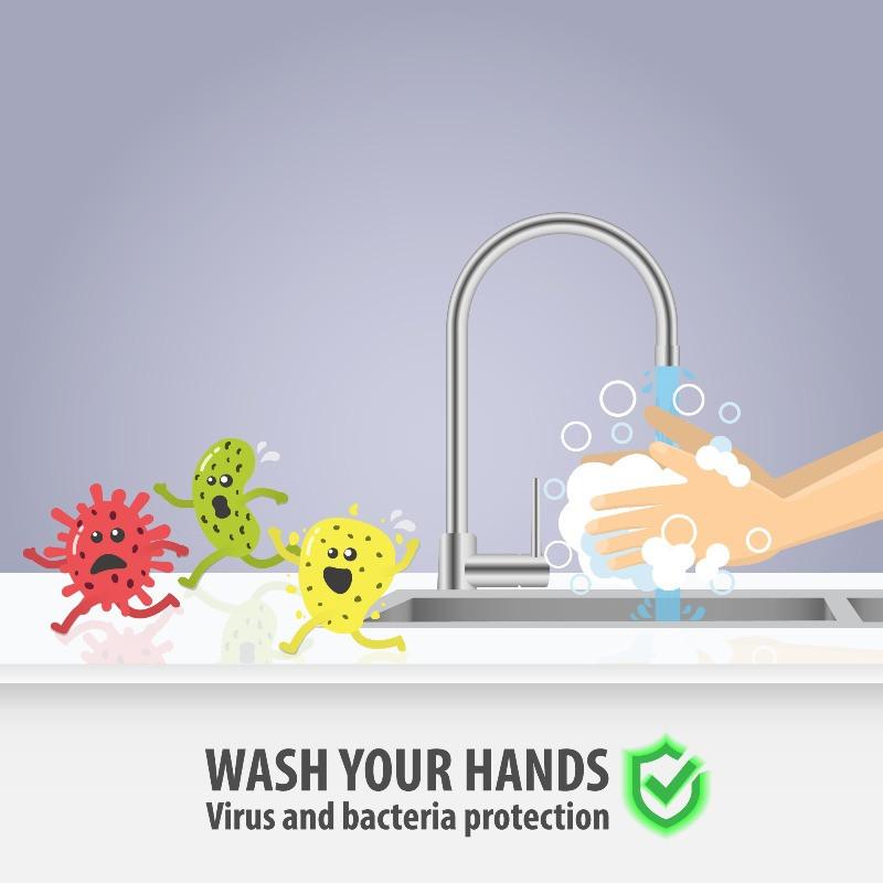 Infograma de lavarse las manos, una forma de luchar contra el coronavirus en Islandia