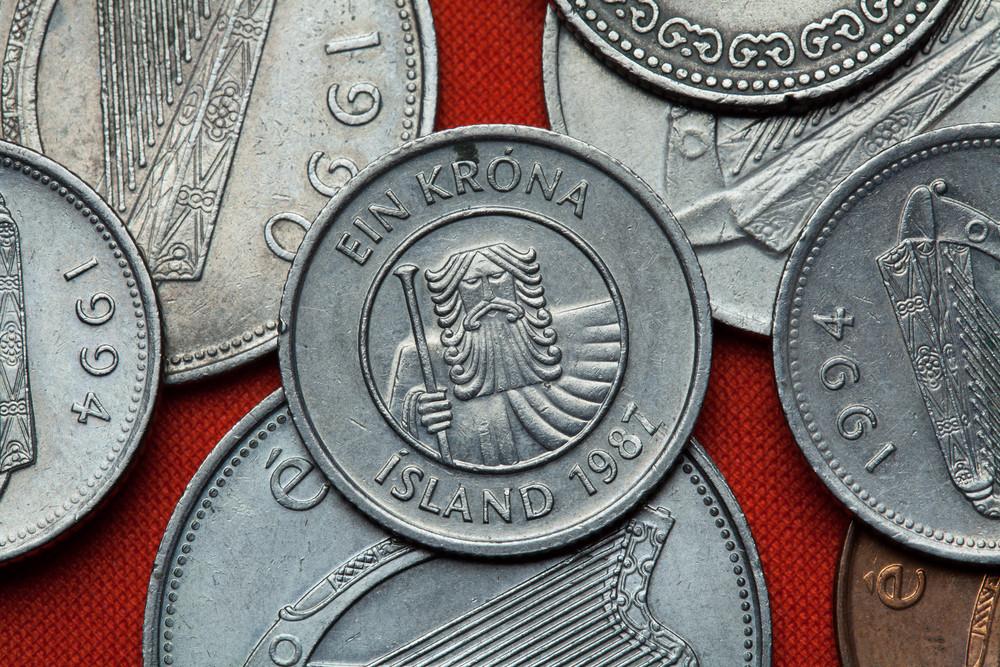 Denado islandese, krona moneta islandese