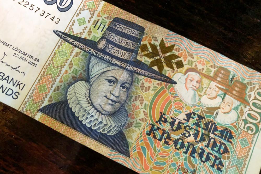 bancanota cinquemila moneta isladese