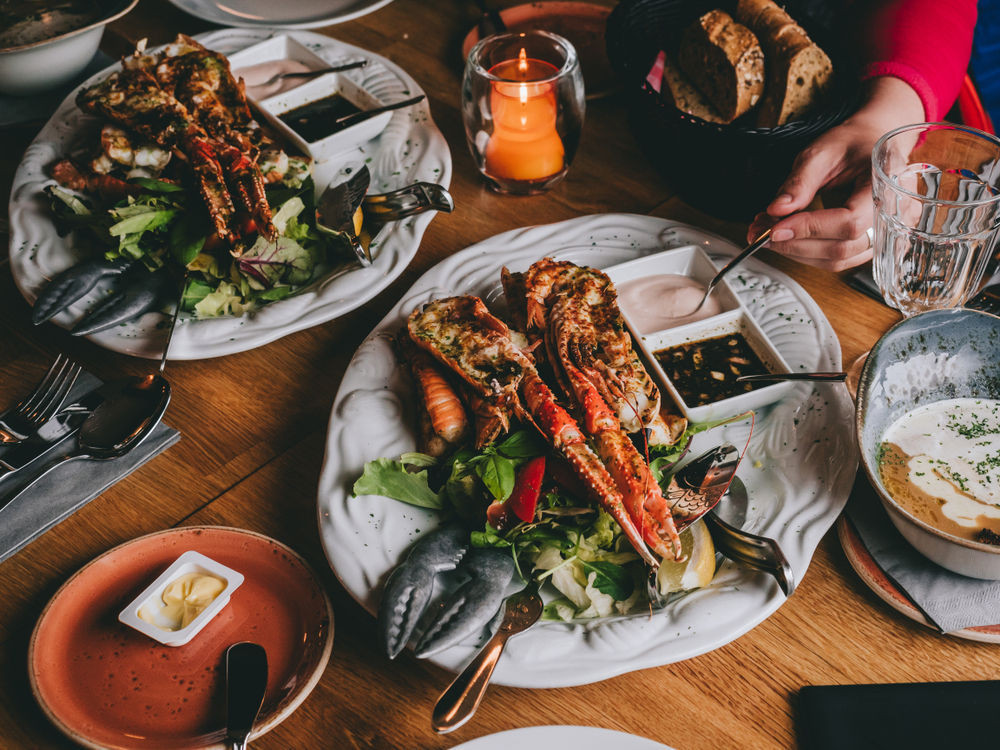 Traditional Icelandic seafood on the table