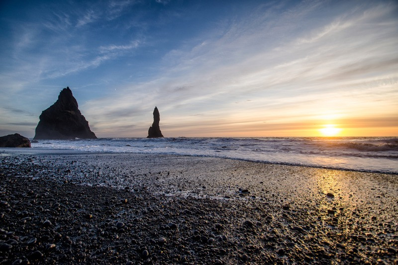 Reynisfjara black beach on the Iceland South Coast