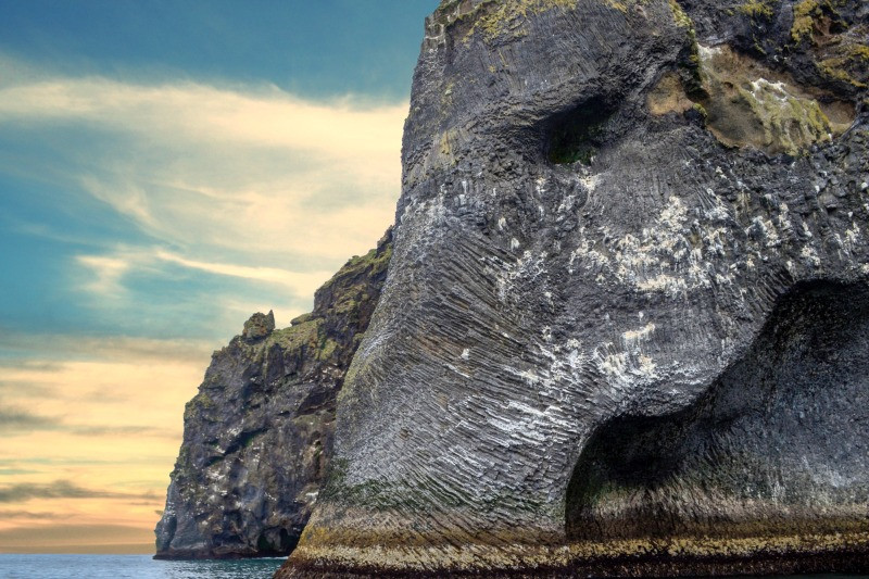 Elephant Rock Iceland on Heimaey island