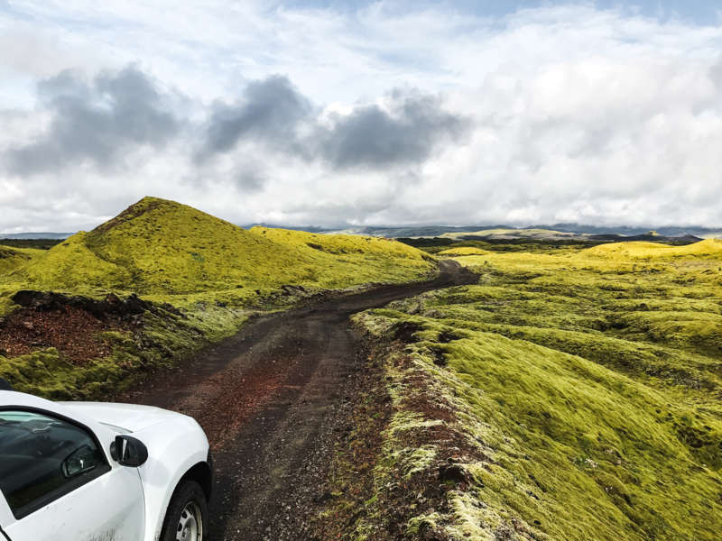 F road to Lakagigar in Iceland