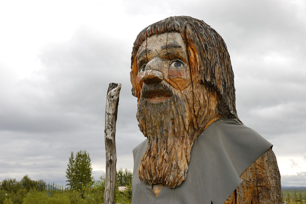 wooden-carved image of an Icelandic troll