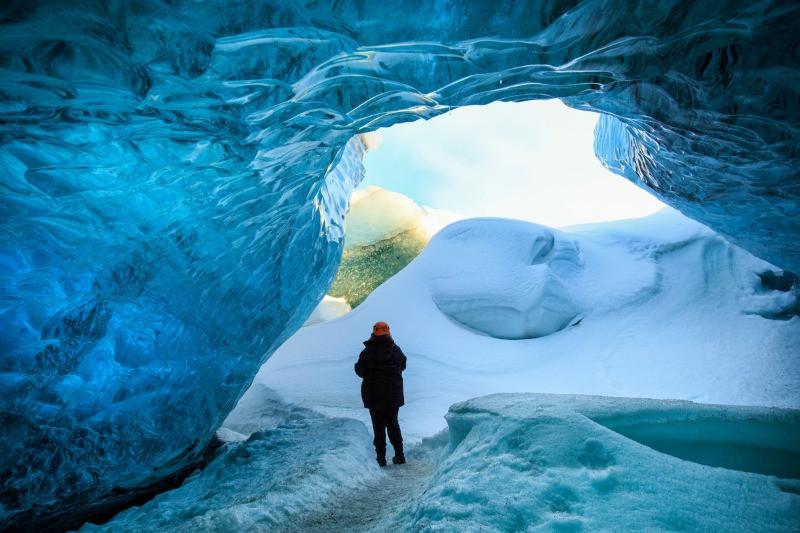 Ice cave inn Iceland