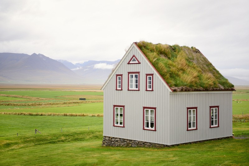 Iceland real estate house in countryside