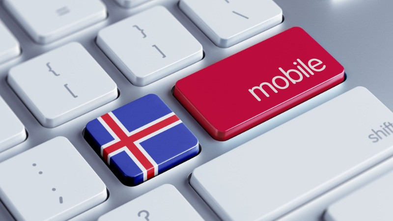 Best sim and mobile networks in Iceland represented on a keyboard