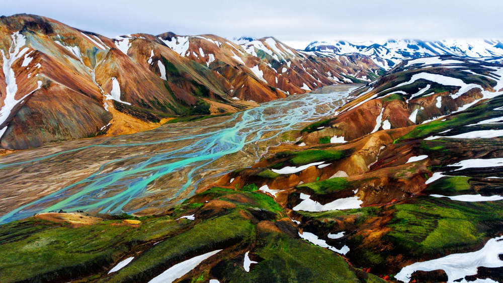 Majestic views of the Highlands of Iceland