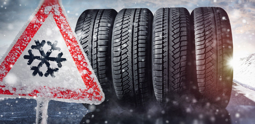 set of winter tires to drive in Iceland