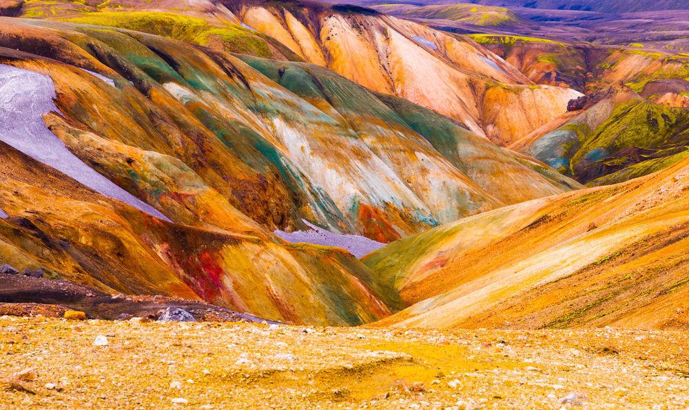 Montañas de riolita en landmannalaugar