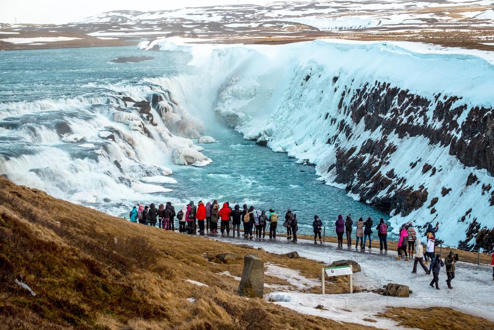 La cascata di Gullfoss, Golden Circle in Islanda