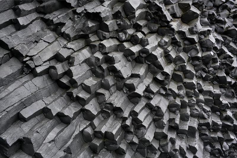 Basalt columns in Iceland