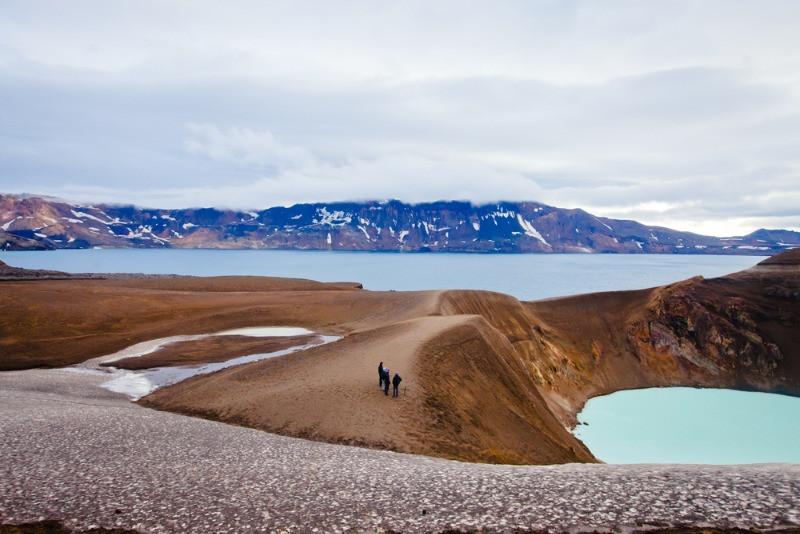 Lago Viti en Askja, uno de los lugares más bonitos de Islandia