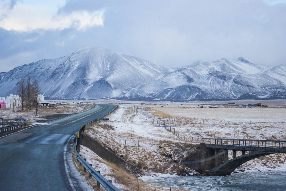 The ring road during the winter time - best time to visit Iceland