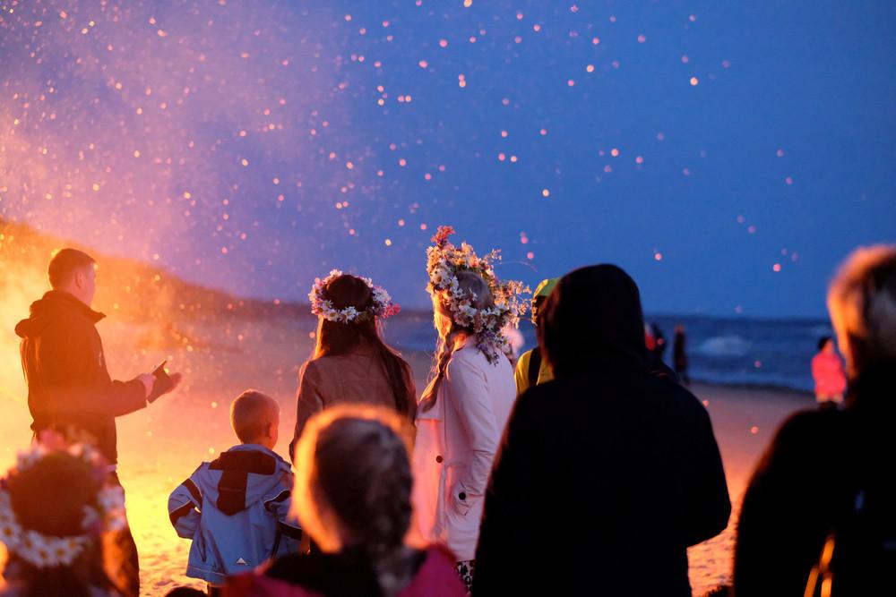 Group of people celebrating Jonmessa - Polar nights in Iceland
