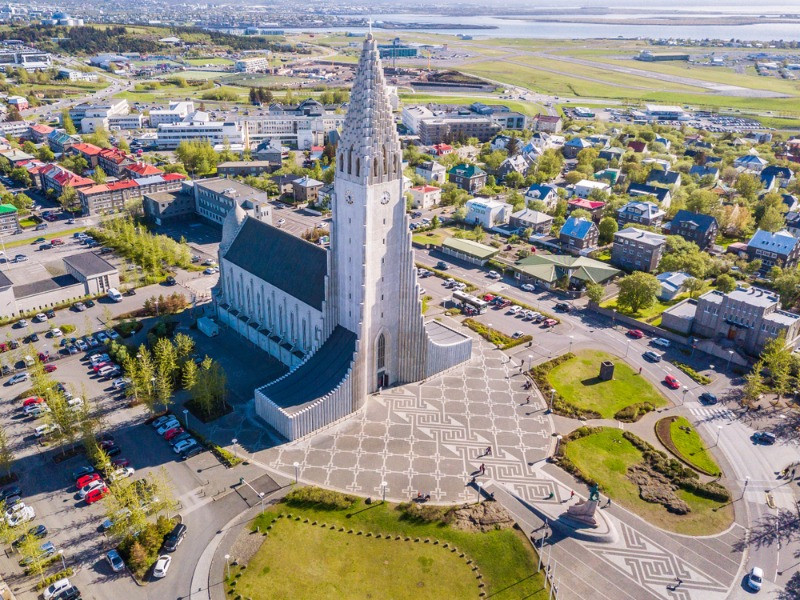 Hallgrimskirkja from the heights
